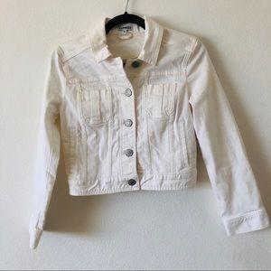 Express cropped denim jacket